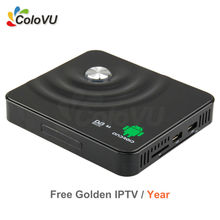 Android DVB S/S2 Digital Satellite Combo Receiver with 1Year Golden IPTV for Araibic/Europe/Africa/India support CCCAM/Newcamd