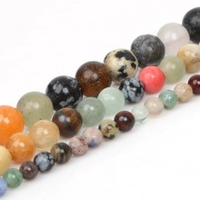 """Buy Best Selling 4mm 6mm Mixed Stone Round Ball Stone Beads Dyed 15"""" For DIY Bracelet Necklace Jewelry Making for $1.34 in AliExpress store"""