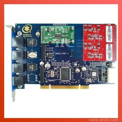 Asterisk card  4 Ports with 2FXO & 1FXS modules  for VoIP IP PBX easyasterisk elastix trixbox  TDM410P tdm400p