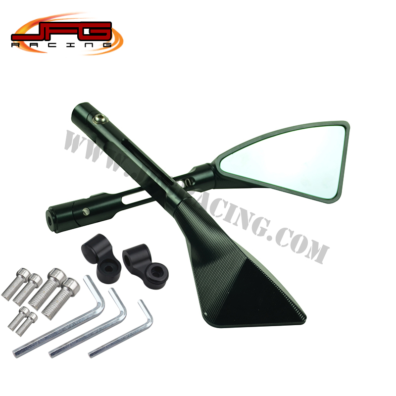 Free shipping Aluminum CNC side rear view mirror universal for all motorcycle Street bike Scooter dirt bike(China (Mainland))