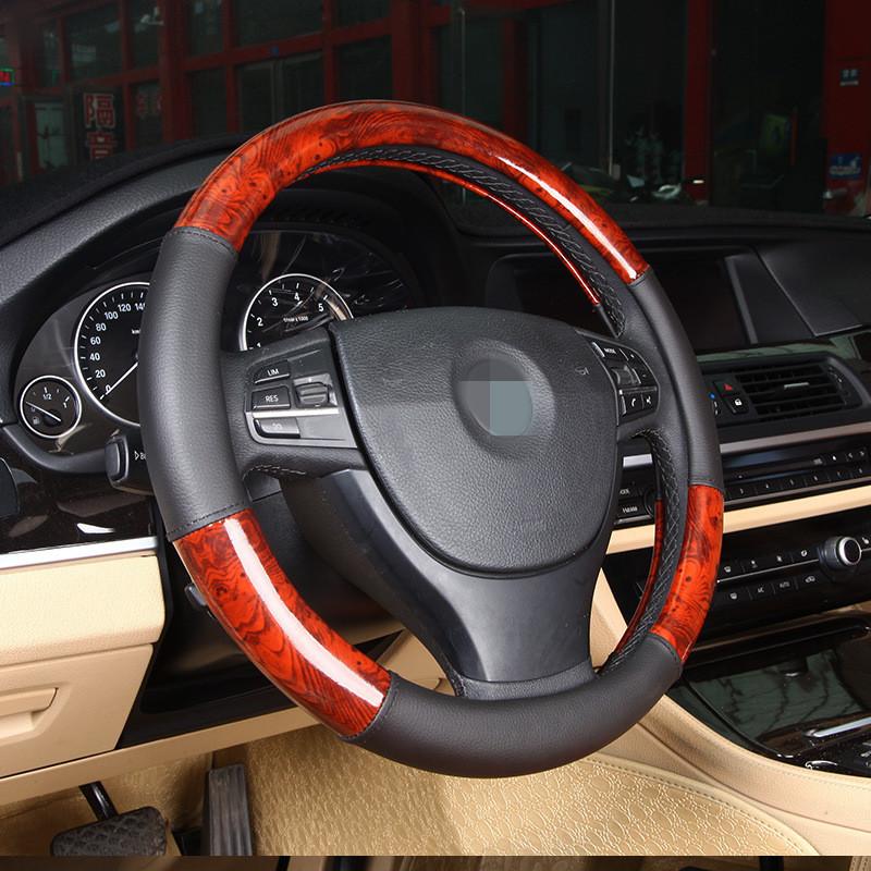 Imitation wood steering wheel set the set of car general summer wear non slip handle ultra direction set  Interior Accessories <br><br>Aliexpress