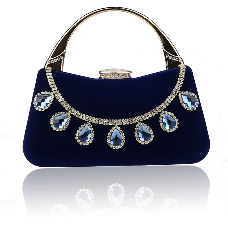 2016 Top Selling Blue Chinese Womens Wedding Evening Bag Clutch handbag Mujer Bolso Stylish Bride Party Purse Makeup Bag F988-1A<br><br>Aliexpress