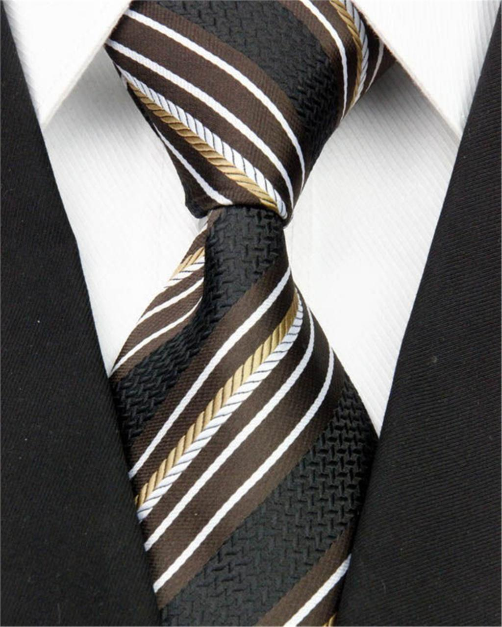 """New Classic Men Business Necktie Tie Accessories Silk Striped Tie Pattern Jacquard Woven Formal Wedding Party Nt075 (4""""/10cm)(China (Mainland))"""