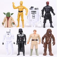 8pcs/set Flash Star Wars Black Series Action Figure Toys Yoda Stormtrooper The Black Knight Clone PVC Model Action Toys