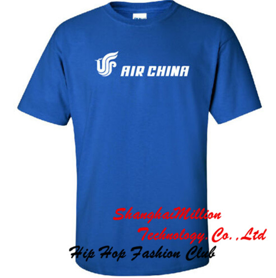 Air China Retro Chinese Airline Logo T-Shirt(China (Mainland))