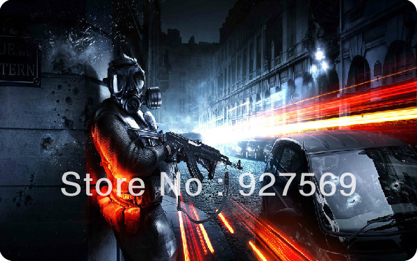 Free Shipping Download Battlefield 4 Wallpaper Mouse Pad 300*250*5mm(China (Mainland))