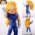 High quality 1pcs 15 17cm Dragon Ball Z Heroes Super Saiyan 3 Goku Vegeta PVC Action