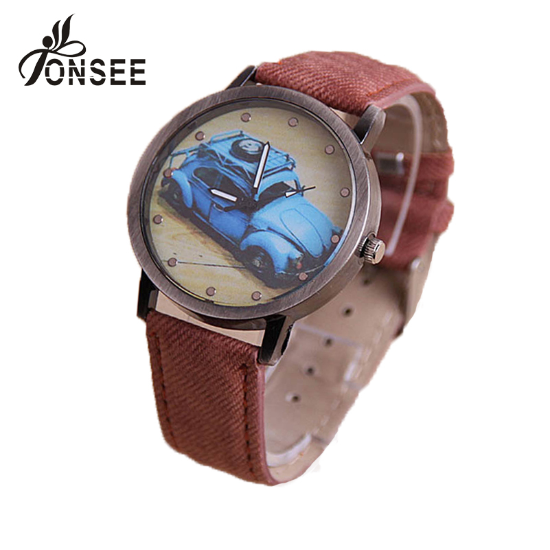 Гаджет  7Colors 2015 New Promotion Ladies Retro Car Painted PU Leather Watches Classic Quartz Watches dress Wristwatches #D942 Tonsee None Часы