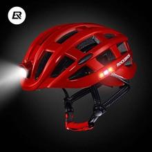 Buy Rockbros Bicycle Helmet Integrally-molded EPS Cycling Helmet With HeadLight Safety Mountain Road Bike Helmet Men Women 49-59cm for $53.99 in AliExpress store
