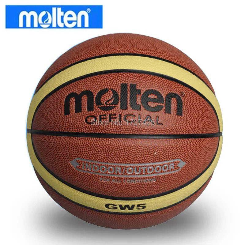2015 NEW Brand Hight Quality Genuine Molten GW5 Basketball Ball PU Materia Official Size5 Basketball Free With Net Bag+ Needle(China (Mainland))