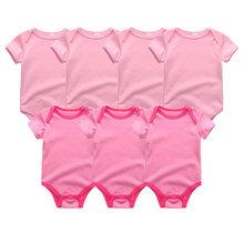 Uniesx Sơ Sinh Bé Rompers Quần Áo 7 cái/lốc Trẻ Sơ Sinh Áo Liền Quần 100% Cotton Trẻ Em Roupa De Bebe Cô Gái và Chàng Trai Quần Áo Trẻ Em(China)