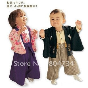 Baby clothing / Baby kimono / Romper / climb serving piece suit(China (Mainland))