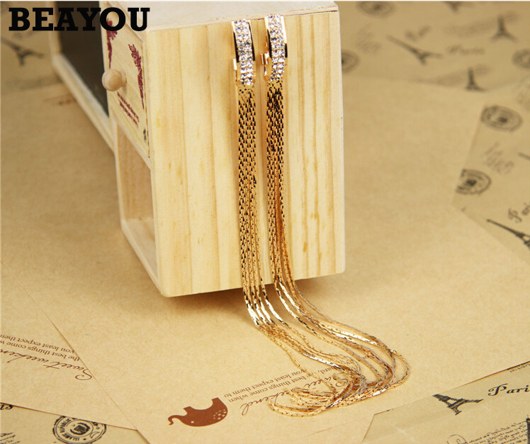 Long Shoulder Tassels Earrings 2015 New Fashion Party Club Personality Drop - BEAYOU store