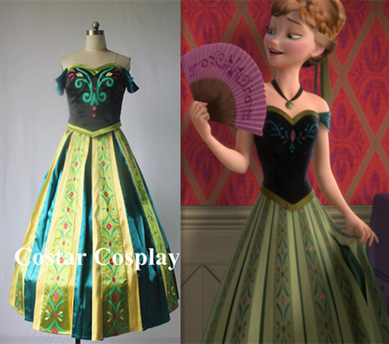 Gorgeous-Anna-Coronation-Dress-Custom-made-Frozen-Costume ...