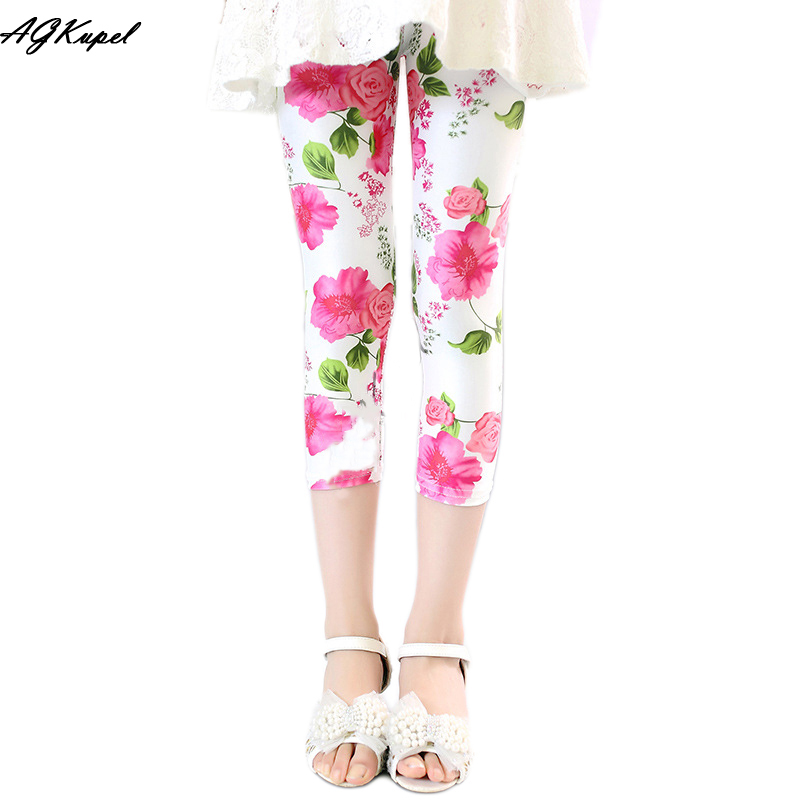 2016 Summer Children Leggings For Girls Kids Leggings Girls Flower Pants For Option Girl Pants Kids Baby Trousers 2-8Y(China (Mainland))