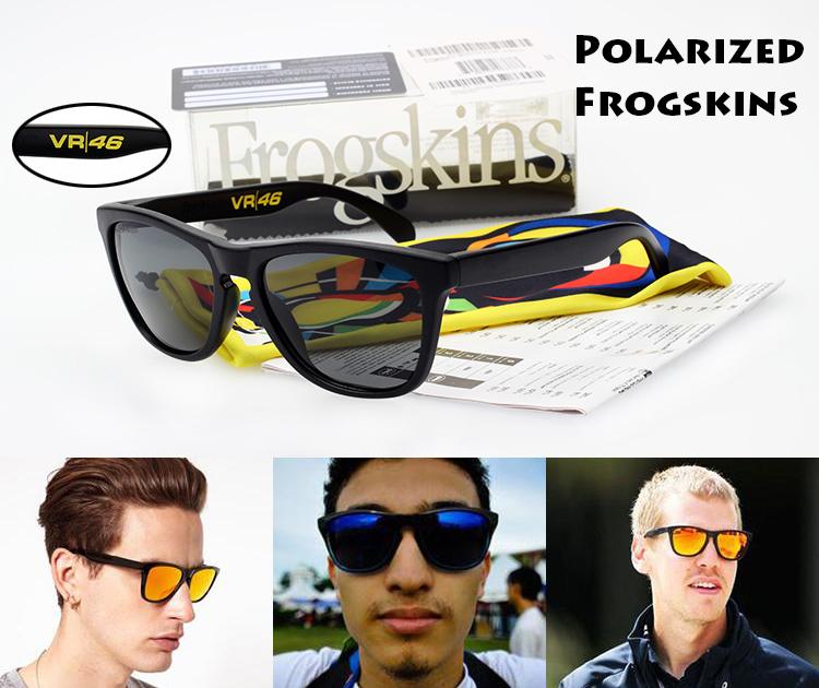 2015 New Polarized Frogskins Men Women Sunglasses VR46 Shaun White Signature Polarized Men Sun Glasses Fashion Oculos De Sol(China (Mainland))