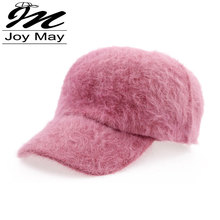 Free shipping fashion winter hat candy solid color rabbit fur baseball cap Women's Autumn and Winter cap W001(China (Mainland))