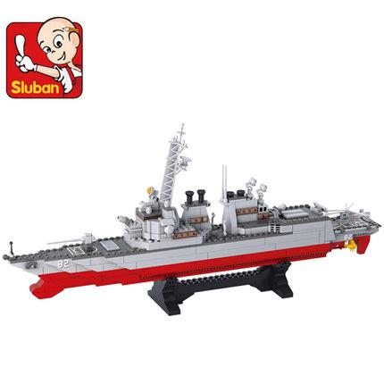 Building Block Sets Compatible lego military Destroyers 3D Construction Bricks Educational Hobbies Toys Kids