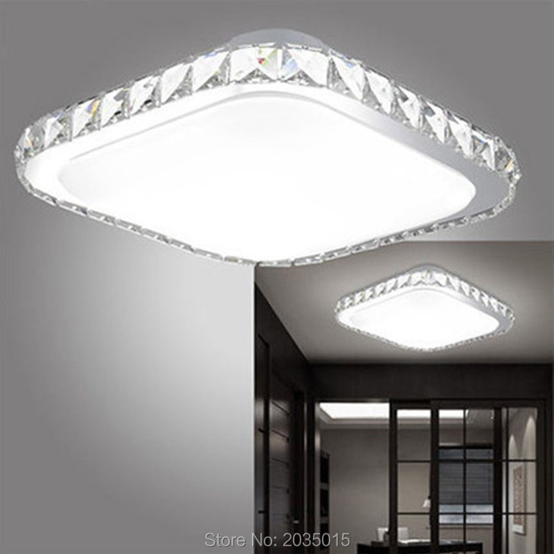 Square Modern LED Crystal Ceiling Light for Balcony Corridor Living Room Bedroom Dining Room Kitchen LED Ceiling lamp 1646(China (Mainland))
