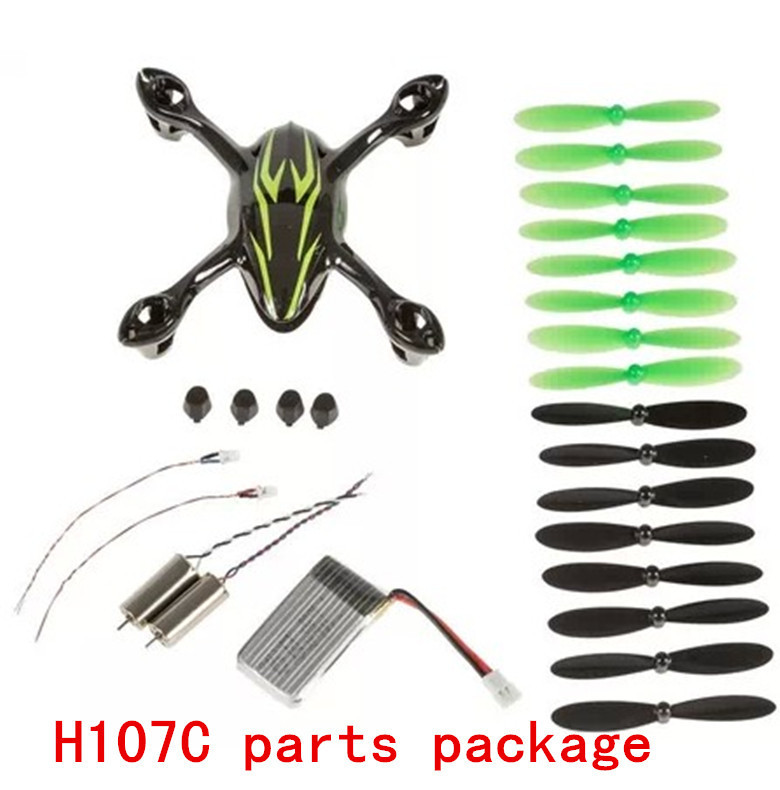 Hubsan X4 H107C four axis aircraft black green kit motor chassis battery LED lamp foot fan and other accessories(China (Mainland))
