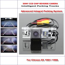 Buy Backup Rear Reverse Camera Citroen ZX 1991~1998 / HD 860 * 576 Pixels 580 TV Lines Intelligent Parking Tracks for $56.56 in AliExpress store