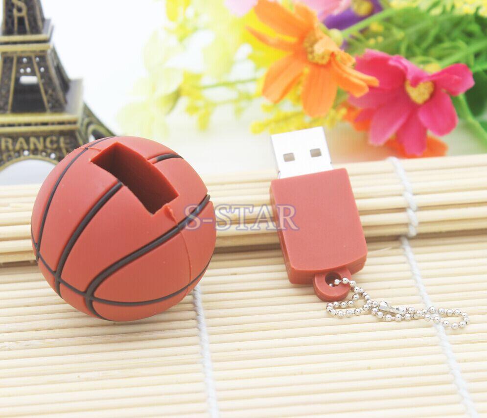 Basketball sport usb flash drive 4GB 8GB 16GB 32GB memory stick ball Pendrive Pendriver mini usb disk USB 2.0 mini gift/gifts(China (Mainland))