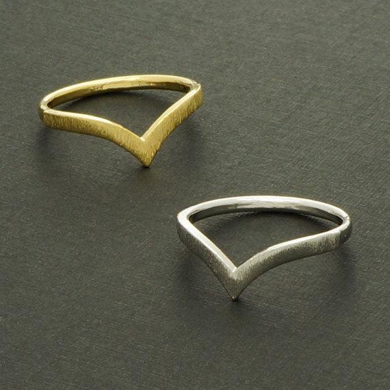 2015 gold silver gold jewelry chevron v ring