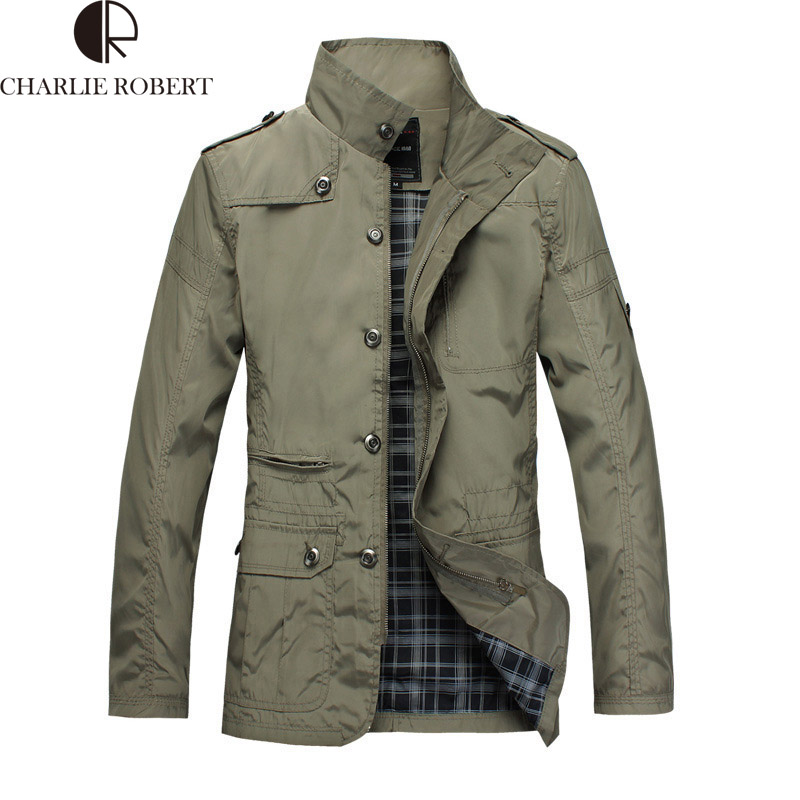 2016 New Arrival Fashion Thin Men Jacket Coat Hot Sell Casual Wear 5XL Korean Comfort Autumn Overcoat Outwear Necessary(China (Mainland))