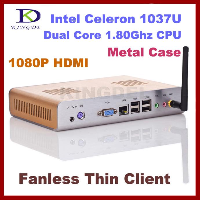 Windows 7 OS Thin client Terminal Server,Mini desktop pc Intel Celeron/Pentium Dual Core,2GB Ram,16GB SSD 1.8Ghz,1080P HDMI,WIFI(Hong Kong)