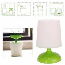 Indoor Outdoor Solar Potted LED Study Book Reading Light Potted Lamp Desk Table Home Decoration Protect Eyes Reading Light NEW(China (Mainland))