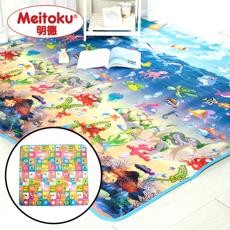 Good quality!Meitoku Baby Play Mat kid Toys Rugs for Children Foam Educational Developing Whole Carpet for Crawling 200cmX180cm(China (Mainland))