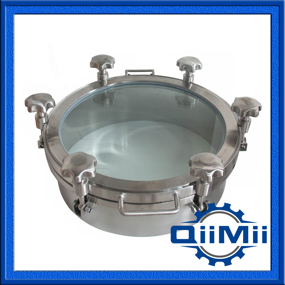 450mm SS304 pressure view glass cover;Sanitary manhole cover with sight glass;(China (Mainland))