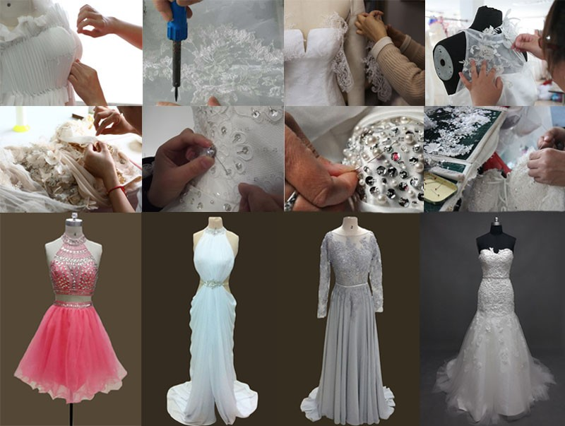 Real Romantic Ball Gown Ivory and Grey Applique Lace Wedding Dresses 2017 vestidos de noiva Puffy Bridal Gowns Custom Made BLW71 20