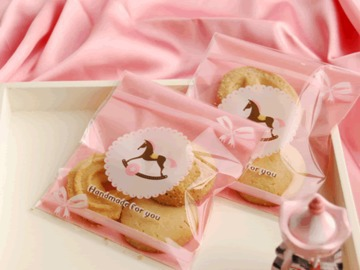 100pcs 10*11cm Trojan Self-adhesive Cookie Packing Tool Wedding Party DIY Snack Dessert Bakery Gift Packing Candy Picnic Bags(China (Mainland))