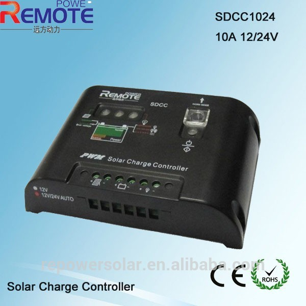 wholesale hot sale remote power solar controller solar home system controller 10A 12v 24v(China (Mainland))