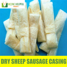 Dry sheep casing r 10pc/bag 26 meter total 18mm-20mm natural sheep Sausage cover,Sausage skin, free shipping(China (Mainland))