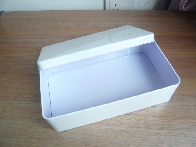 1 PC White Metal Tin Box Gum Biscuit Storage Box Large 22.5*13*6CM(China (Mainland))