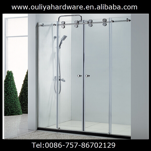 Free shipping stainless steel SS304 frameless glass shower enclosure hardware(China (Mainland))