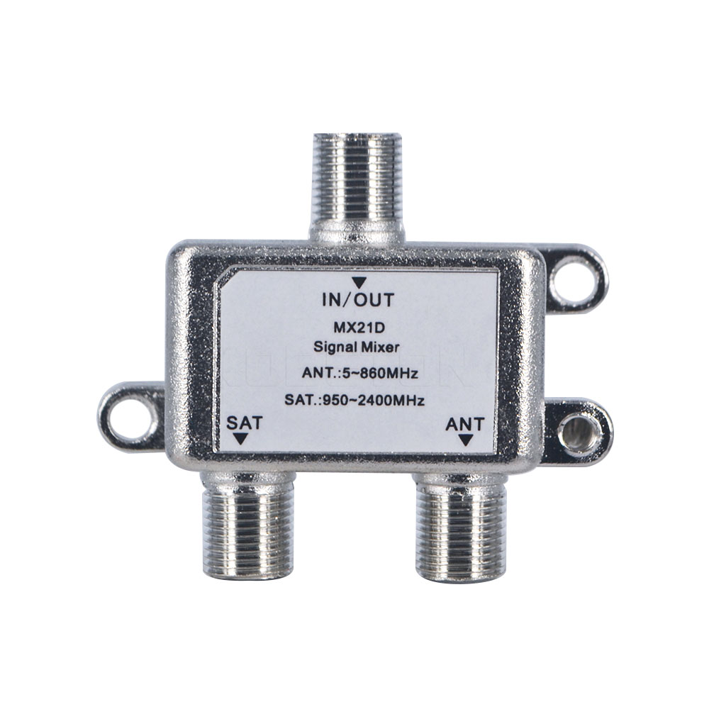 Practical 2 In 1 Dual-use 2 Way Port TV Signal Satellite Sat Coaxial Diplexer Combiner Splitter Combiners Cable Switch Switcher(China (Mainland))