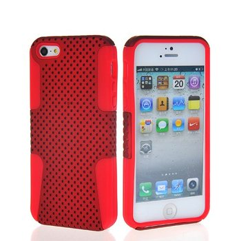 Soft mesh skin TPU sillcone&rubber case cover + Screen protector for Apple iPhone 5 5G BLACK Mobile phone case