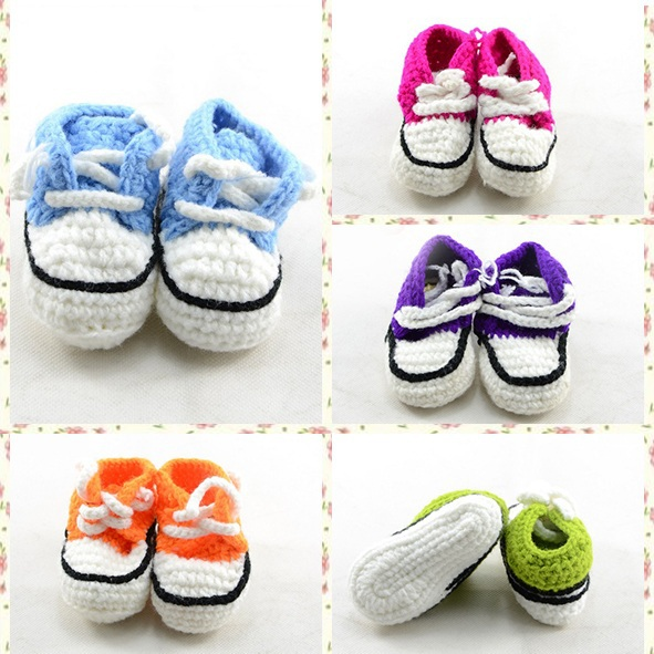 Hot sale Newbron baby knitted shoes Toddler soft comfortable corchet shoes Infant handmade first walk boots 10pairs/lot S076