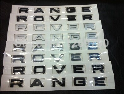 NEW hood front badge Letter emblem for Range rover Land rover car stickers(China (Mainland))