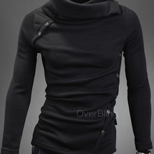 2015 New Arrival Korean Version Warm Sweatershirt Men Knit Hoodies Slim Pullover Black Coffee Hoodiesmen(China (Mainland))