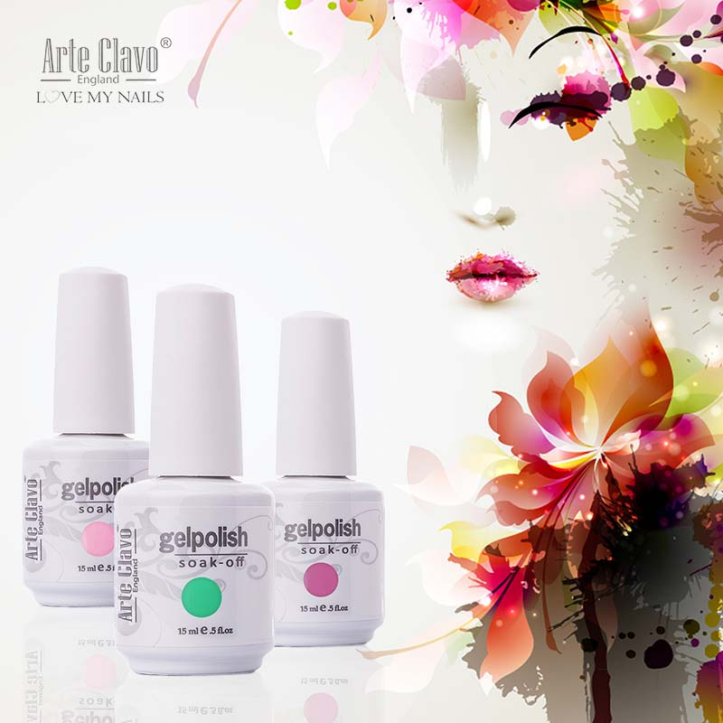 Arte Clavo 15ml Arte Clavo Nail Art Paint UV Gel French Nails Gel Lacquer Colored Nail UV Gel Polish
