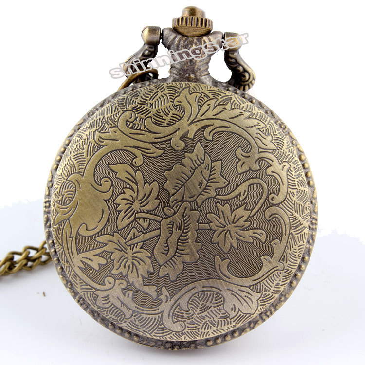Free shipping Bronze Motorcycle Motorbike MOTO Pocket Watch Necklace Pendant Mens Gift P79