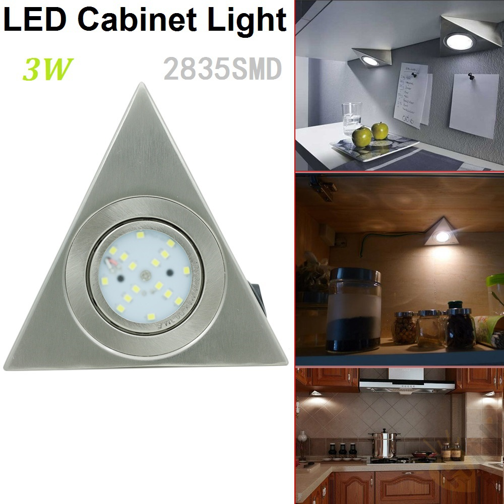 3W 2835SMD AC85-265V LED Triangular Cabinet Closet Kitchen Showcase Furniture Light Exhibition Hall Lamp Lighting With Switch(China (Mainland))