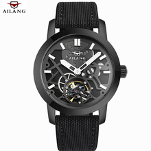 Relogio Masculino 2016 AILANG Men's Luxury Brand Military Mechanical Watches Leather Hollow Skeleton Watch Relojes Hombre(China (Mainland))