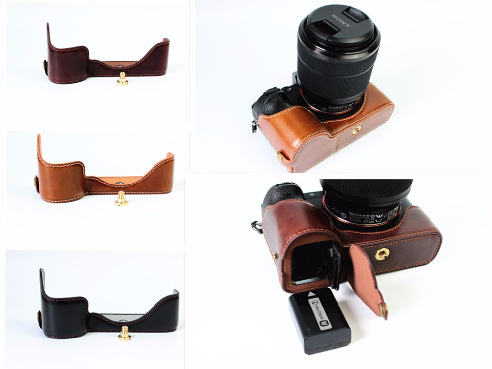 Protector Suit Leather Half Camera Case Bag Cover For Sony A7II A7RII ILCE-7M2 ILCE-7RM2<br><br>Aliexpress