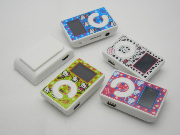 High Quality KT Cat With Screen Portable MP3 Player With Card MP3 Player 150pcs/lot Support FM Radio(Only a Mp3 Player)(China (Mainland))