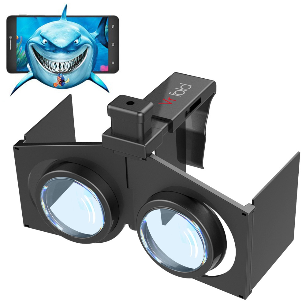 VR Fold V1 Portable Foldable Ultralight 3D VR BOX Universal Virtual Reality 3D Glasses For Movie Video Games 4.7 to 6 inch phone(China (Mainland))